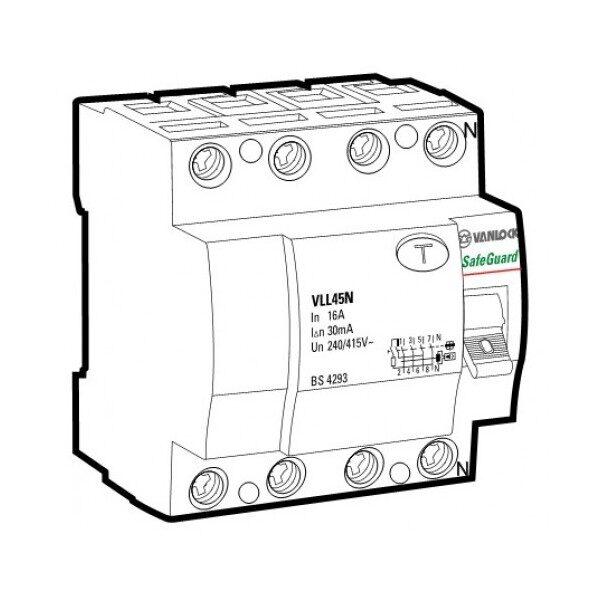 Cầu dao chống dòng rò RCCB VLL45N/4040/100