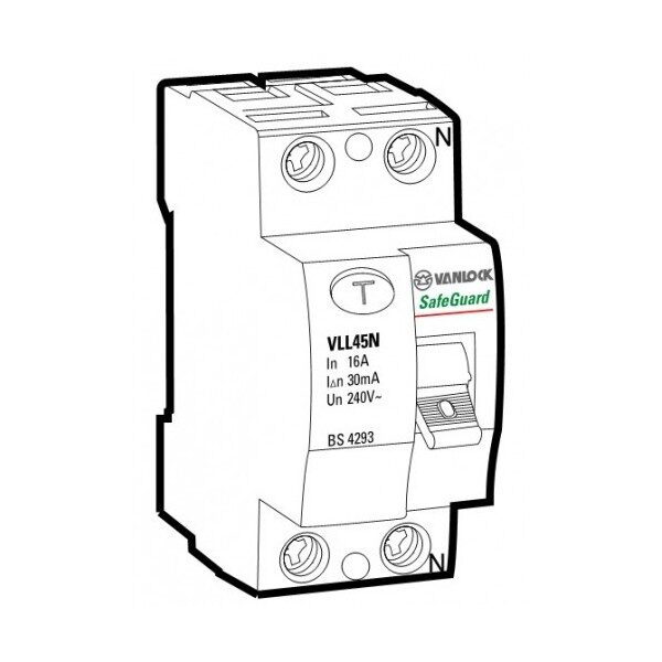 Cầu dao chống dòng rò RCCB VLL45N/2063/100