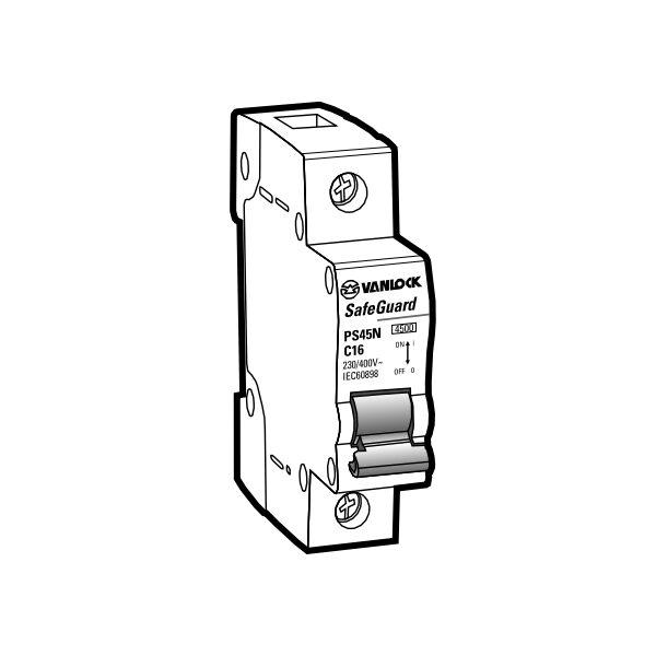 Cầu dao tự động MCB PS45N/C1025