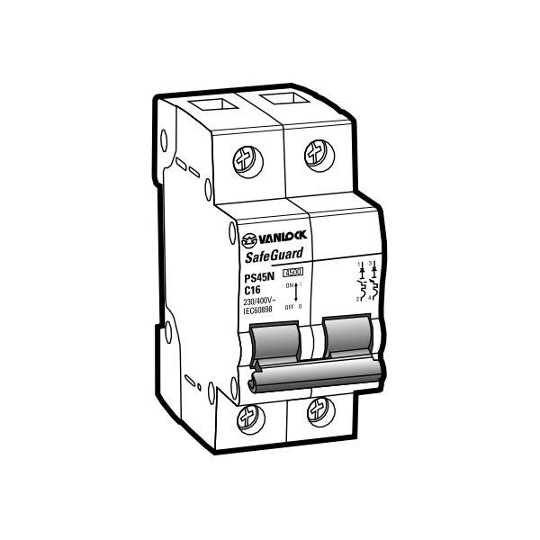 Cầu dao tự động MCB PS45N/C2020