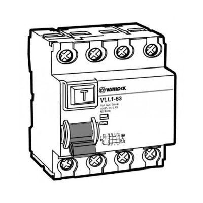 Cầu dao chống dòng rò RCCB VLL1-63/4063/100