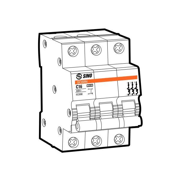 Cầu dao tự động MCB SC68N/C3063