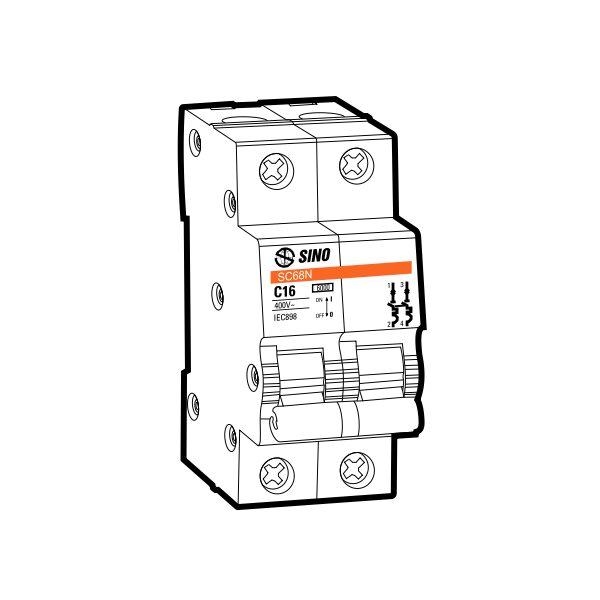 Cầu dao tự động MCB SC108N/C2020