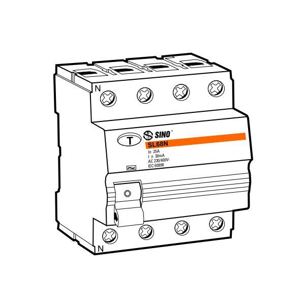 Cầu dao chống dòng rò RCCB SL68N/4016/100