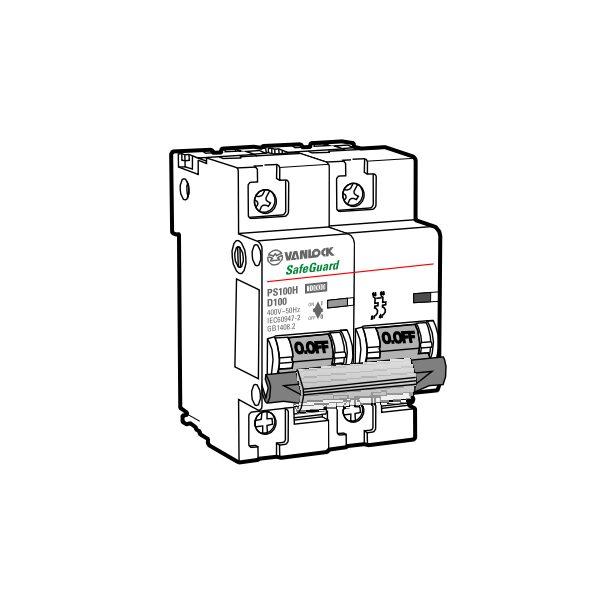Cầu dao tự động MCB PS100H/2/D80