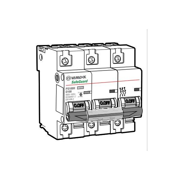 Cầu dao tự động MCB PS100H/3/D80