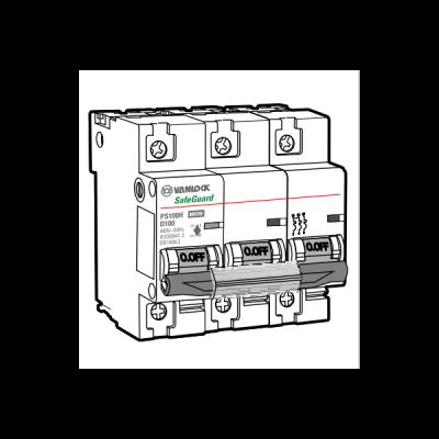 Cầu dao tự động MCB PS100H/3/D100