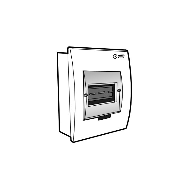 Tủ điện âm tường mặt nhựa E4FC 2/4L