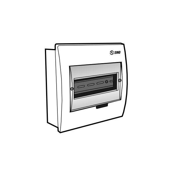 Tủ điện âm tường mặt nhựa E4FC 3/6LA