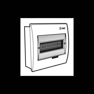 Tủ điện âm tường mặt nhựa E4FC 3/6L