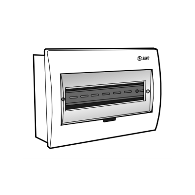 Tủ điện âm tường mặt nhựa E4FC 8/12L