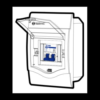 Tủ điện âm tường mặt nhựa V4FC2/4SA