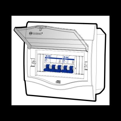 Tủ điện âm tường mặt nhựa V4FC5/8SA