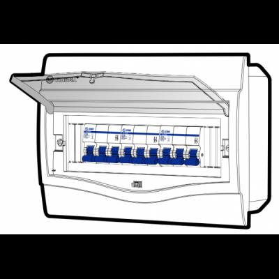 Tủ điện âm tường mặt nhựa V4FC9/12LA