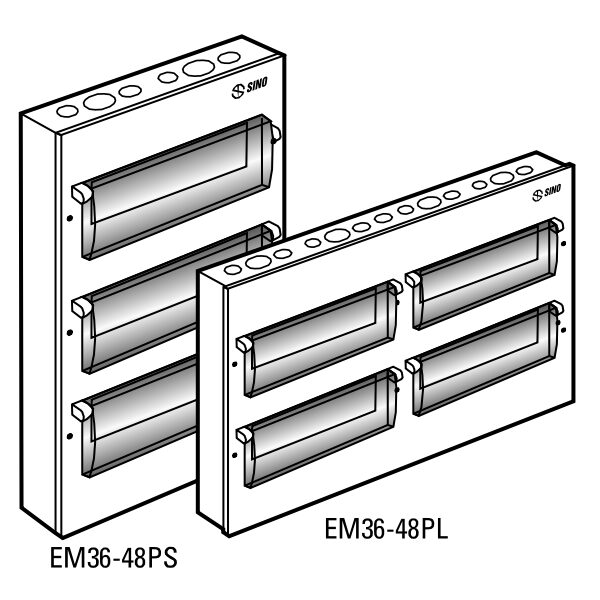 Tủ điện vỏ kim loại EM48PS