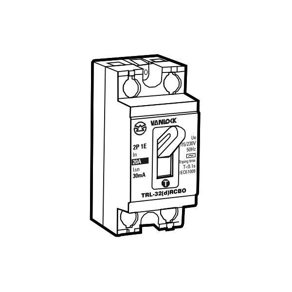 Tổ hợp cầu dao an toàn và cắt dòng rò TRL32/10A