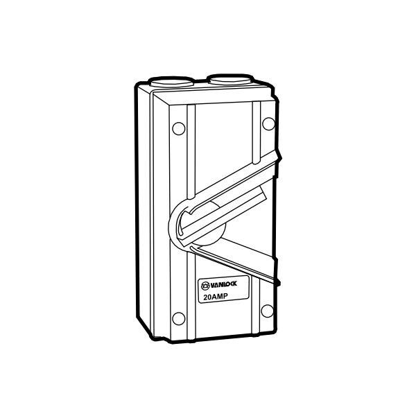 Cầu dao chống thấm WHS4-20