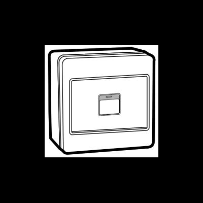 Công tắc nổi nút nhấn đôi UKW581-2