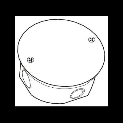 Hộp nối dây âm tròn tự chống cháy E265A/R