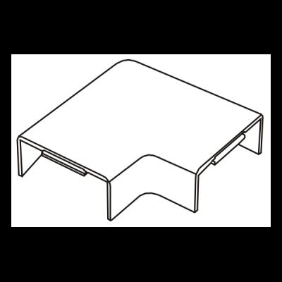 Cút chữ L dẹt góc vuông AE15