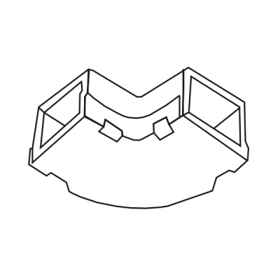 Cút chữ L dẹt góc tròn AE24/T
