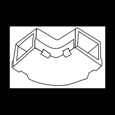 Cút chữ L dẹt góc tròn AE60/T01