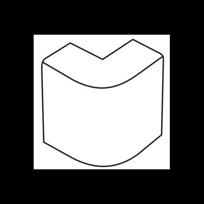 Cút chữ L dẹt góc ngoài AE15/A