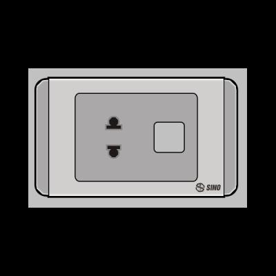 Ổ cắm đơn 2 chấu 1 lỗ S68GU/X