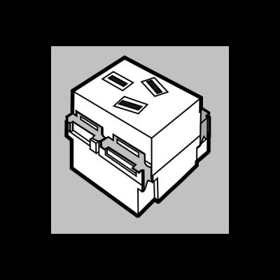 Hạt ổ cắm sàn 3 chấu chéo 10A U003