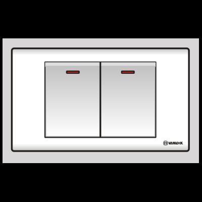 Công tắc đôi 1 chiều S182N1R/DL