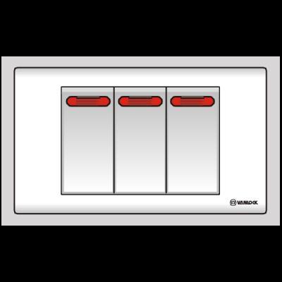 1 công tắc 1 chiều, 2 công tắc 2 chiều S183N1/2N2R