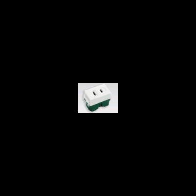 Ổ cắm đơn( Dùng cho phích cắm dẹp) WEG1001